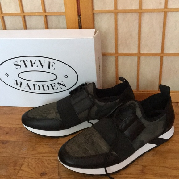 Steve Madden Other - Steve Madden polar green camo sneakers